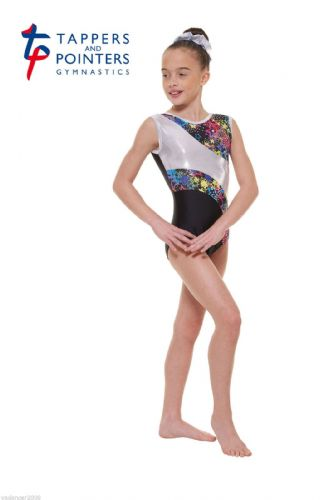 Tappers and Pointers Gymnastics Leotard PLUS Matching HairScrunchie Black Gym 39